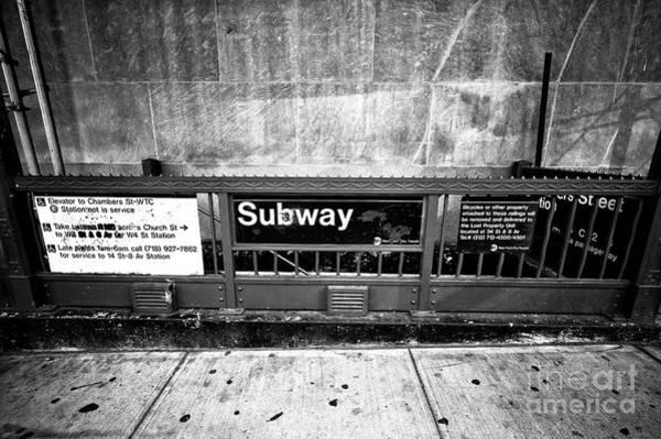 Photograph - Subway Solitude by John Rizzuto