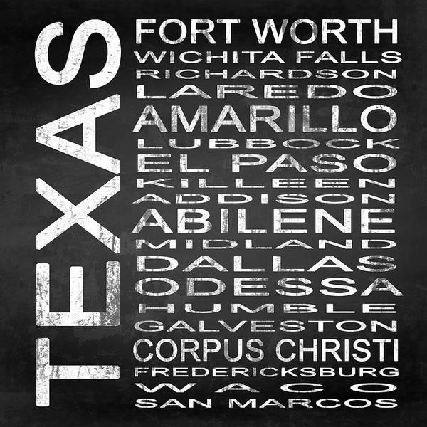 Amarillo Digital Art - Subway Texas State 2 Square by Melissa Smith