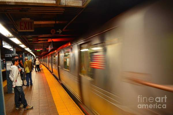 Photograph - Subway Whitehall Street New York by Christopher Shellhammer