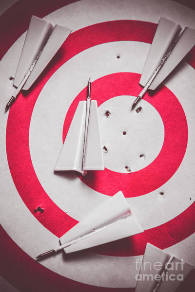 Aspiration Wall Art - Photograph - Success And Failures. Business Target by Jorgo Photography - Wall Art Gallery