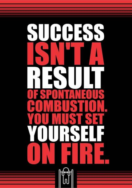 Fitness Digital Art - Success Is Not A Result Gym Motivational Quotes Poster by Lab No 4