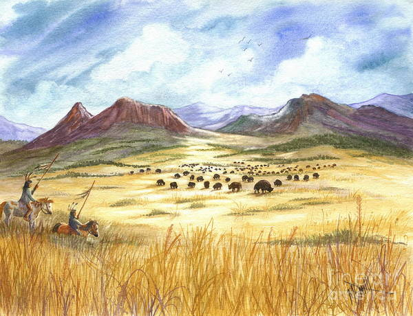 Lakota Painting - Successful Search by Marilyn Smith