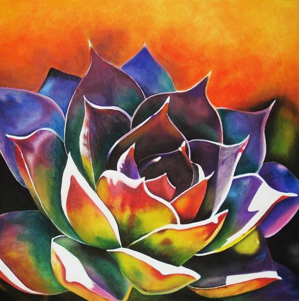 Wall Art - Painting - Succulent  by Maribel Garzon