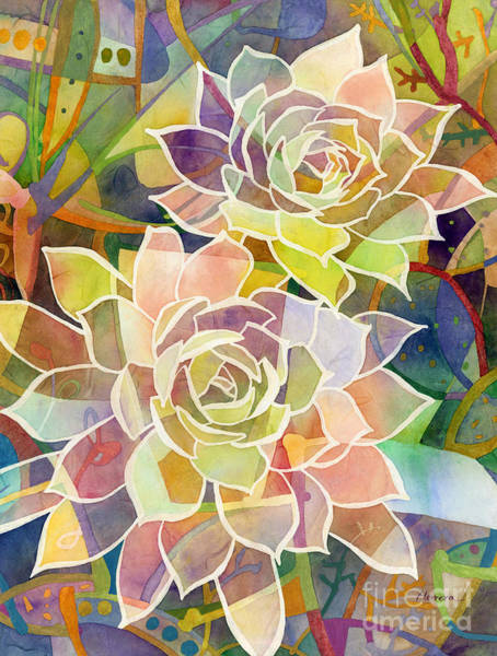 Wall Art - Painting - Succulent Mirage 2 by Hailey E Herrera