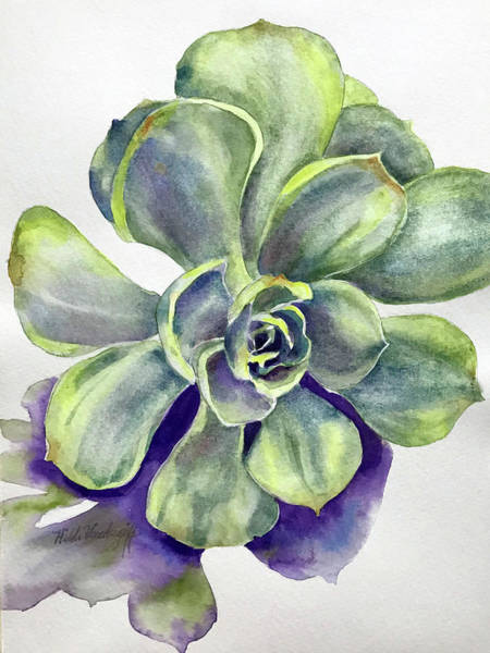 Painting - Succulent Plant by Hilda Vandergriff