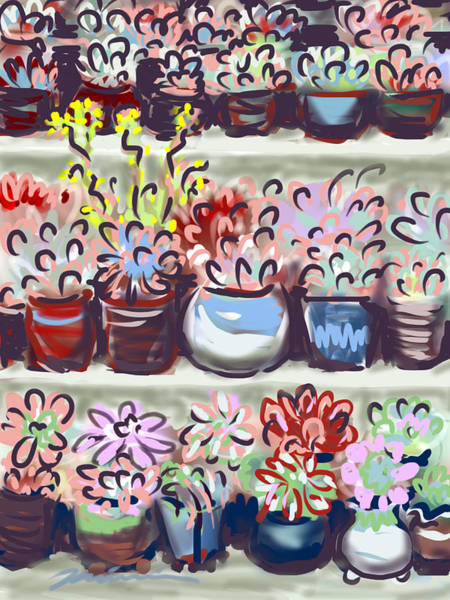 Painting - Succulents by Jean Pacheco Ravinski