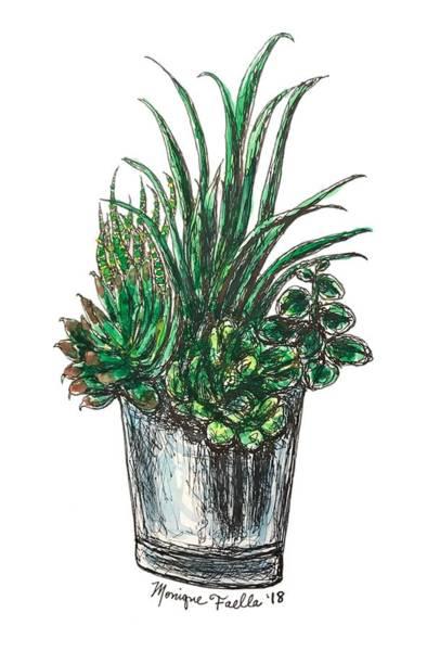 Painting - Succulents by Monique Faella