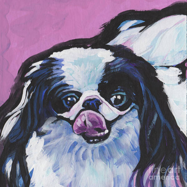 Wall Art - Painting - Such A Chinny Chin Chin by Lea