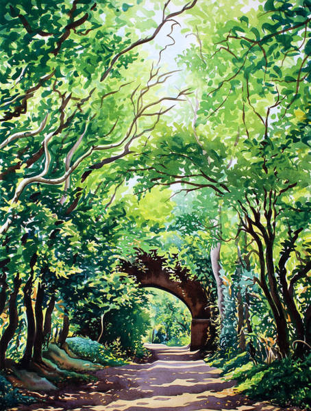 Wall Art - Painting - Sudbury Bridge And Trees by Christopher Ryland