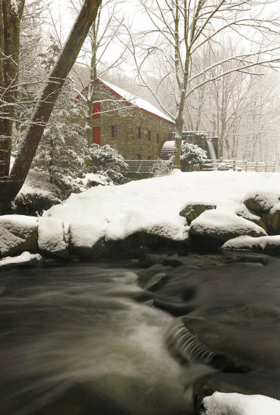 Photograph - Sudbury Grist Mill Winter by Juergen Roth