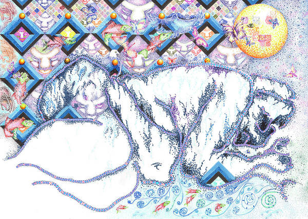 Drawing - Suenos De Invierno Winter Dreams by Doug Johnson