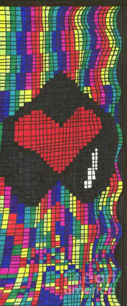 Checker Drawing - Suffering by Lara Morrison