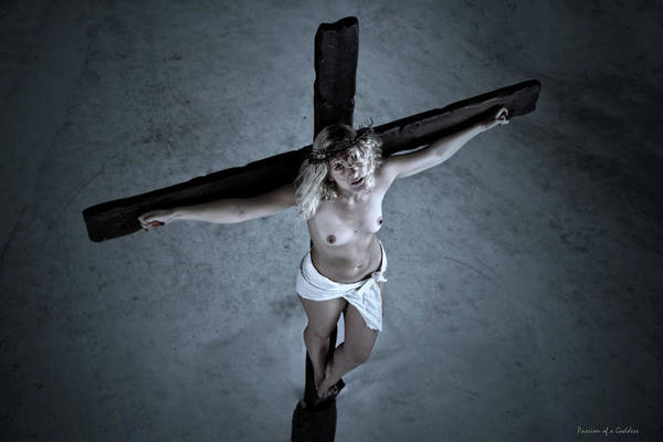 Crucifixion Of Jesus Photograph - Suffering On Crucifix II by Ramon Martinez