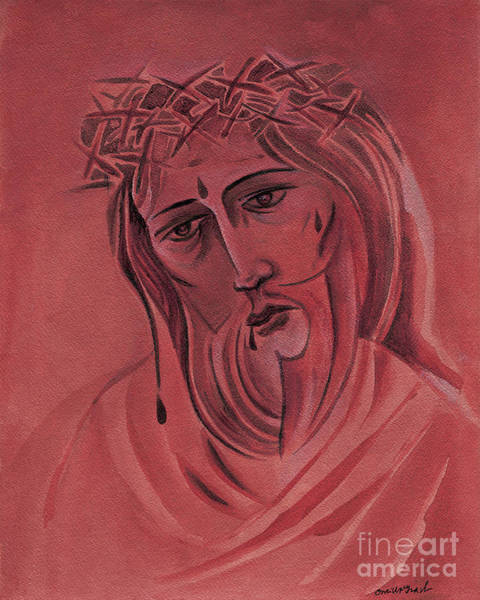 Painting - Suffering Servant - Mmsus by Br Mickey McGrath OSFS