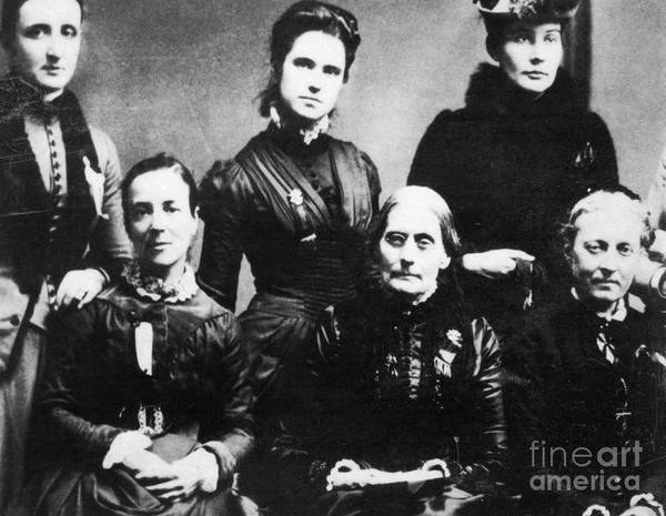 Photograph - Suffragettes, 1888 by Granger