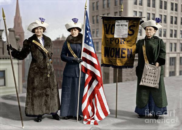 Photograph - Suffragettes, C1913.  by Granger