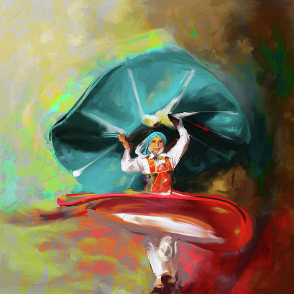 Wall Art - Painting - Sufi Whirl 11 Painting 725 2 by Mawra Tahreem