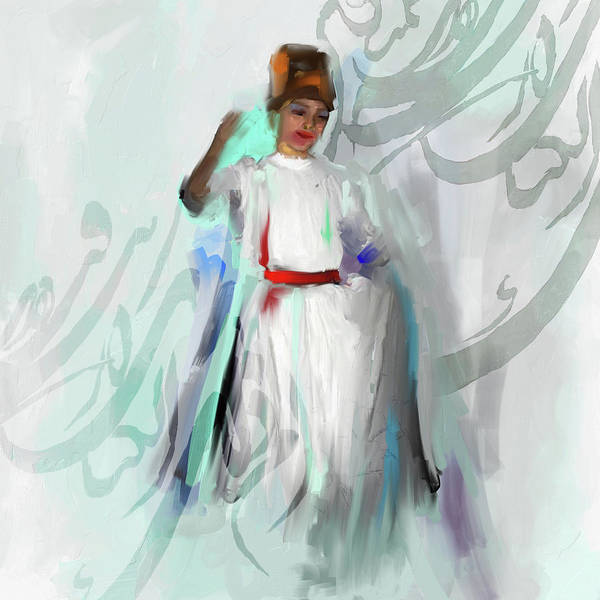 Wall Art - Painting - Sufi Whirl 8 Painting 722 1 by Mawra Tahreem