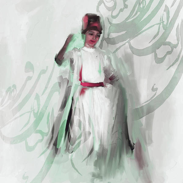 Wall Art - Painting - Sufi Whirl 8 Painting 722 3 by Mawra Tahreem