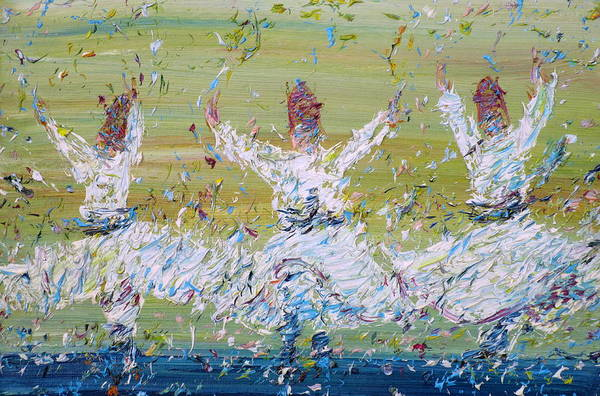Rotating Wall Art - Painting - Sufi Whirling by Fabrizio Cassetta