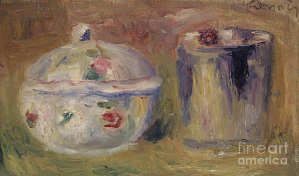 Wall Art - Painting - Sugar Bowl And Beaker by Pierre Auguste Renoir