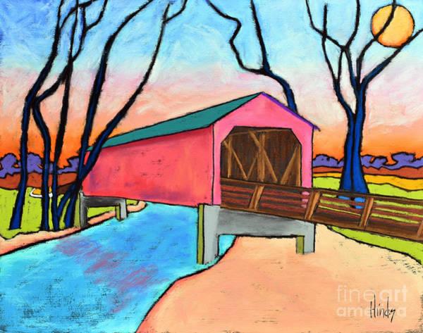 Covered Bridge Painting - Sugar Creek Covered Bridge by David Hinds