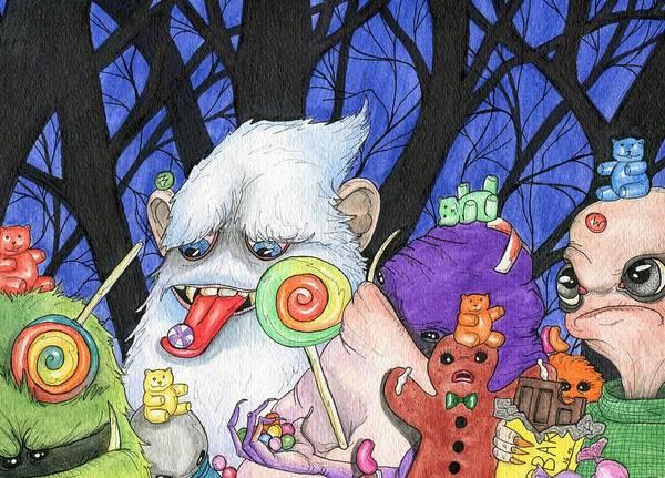 Gummy Bear Painting - Sugar High by Julie McDoniel