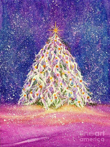 Yule Painting - Sugar Plum Forest  - Christmas Tree by Janine Riley