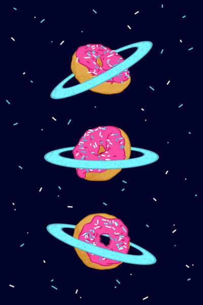 Sweets Digital Art - Sugar Rings Of Saturn by Evgenia Chuvardina
