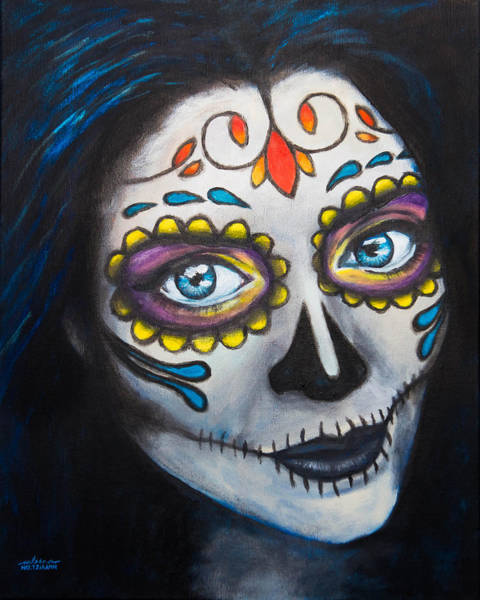 Skull Face Painting - Sugar Sheana by Arleana Holtzmann