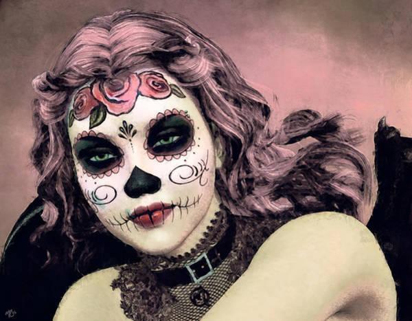 Painting - Sugar Skull Angel by Maynard Ellis