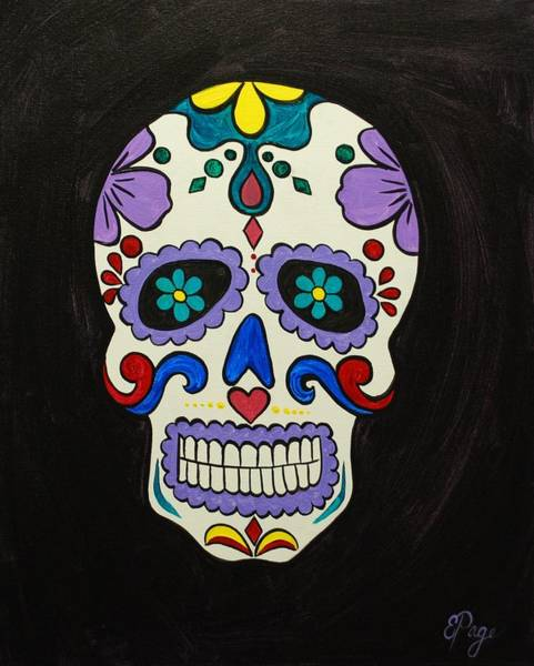 Painting - Sugar Skull by Emily Page