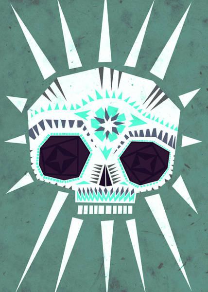 Scary Digital Art - Sugar Skull IIi by Yetiland