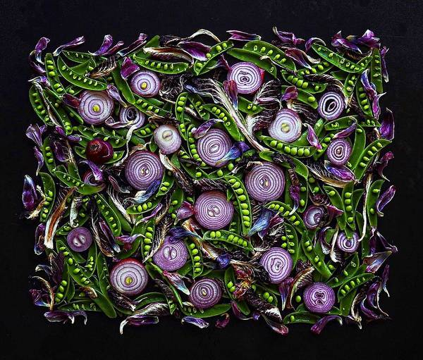 Sugar Snap Peas And Red Onion Mix Art Print
