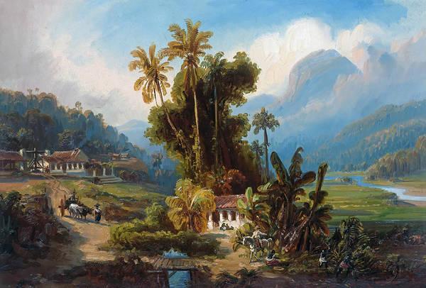 Wall Art - Painting - Sugarcane Plantation Of San Esteban Near Puerto Cabello, Venezuela by Ferdinand Bellermann