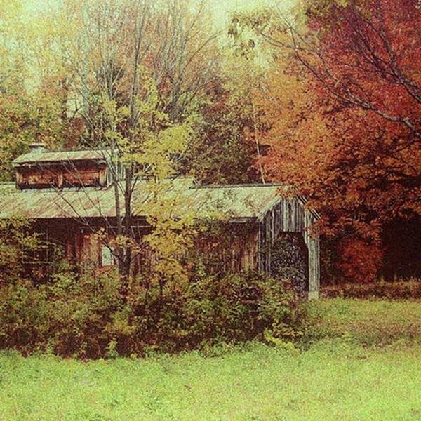 Wall Art - Photograph - Sugarhouse In Autumn Photograph By Jeff by Jeff Folger