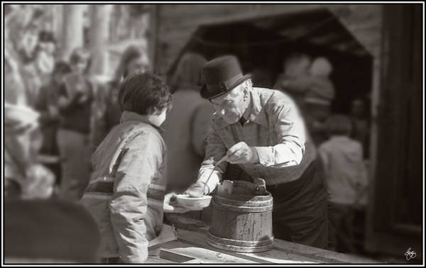 Photograph - Sugaring Off With Uncle Harry by Wayne King