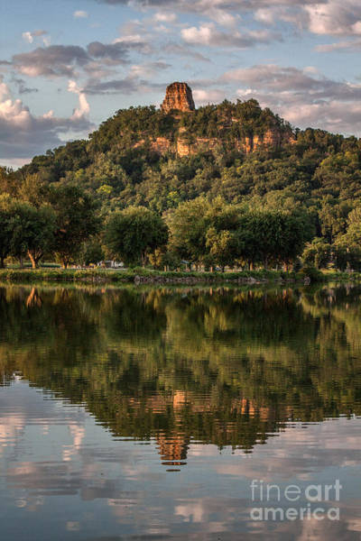 Sugarloaf Reflection Winona Art Print by Kari Yearous