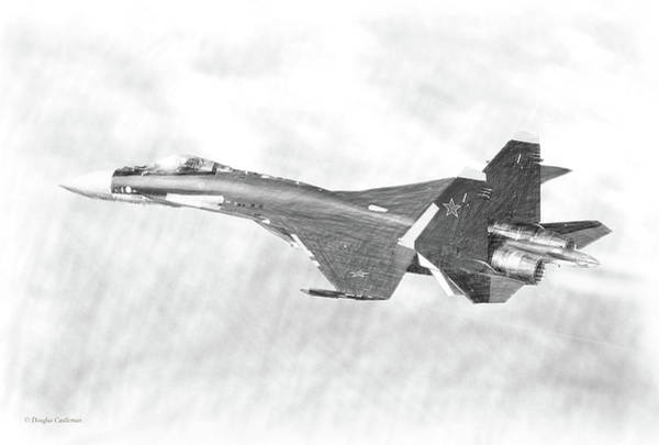 Digital Art - Sukhoi Su-35 Drawing by Douglas Castleman