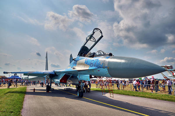 Photograph - Sukhoi by Tgchan