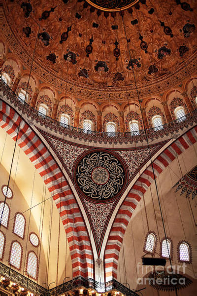 Suleymaniye Mosque Photograph - Suleymaniye Interior by John Rizzuto