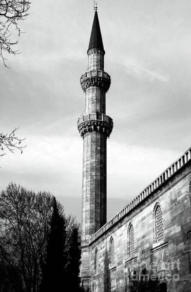 Suleymaniye Mosque Photograph - Suleymaniye Minaret by John Rizzuto