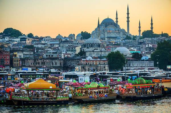 Suleymaniye Mosque Photograph - Suleymaniye Mosque At Dusk by Anthony Doudt