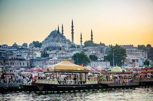 Suleymaniye Mosque Photograph - Suleymaniye Mosque At Sunset by Anthony Doudt