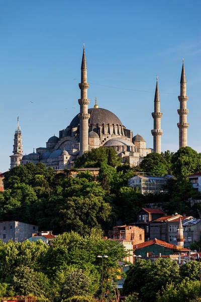 Suleymaniye Mosque Photograph - Suleymaniye Mosque In City Of Istanbul by Artur Bogacki