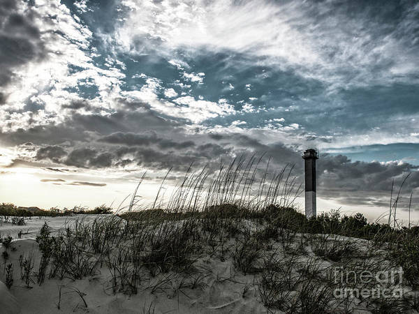 Photograph - Sullivan's Island Lighthouse Bleach Bypass by Dale Powell