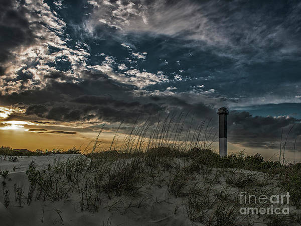 Photograph - Sullivan's Island Lighthouse Dark Contrast by Dale Powell