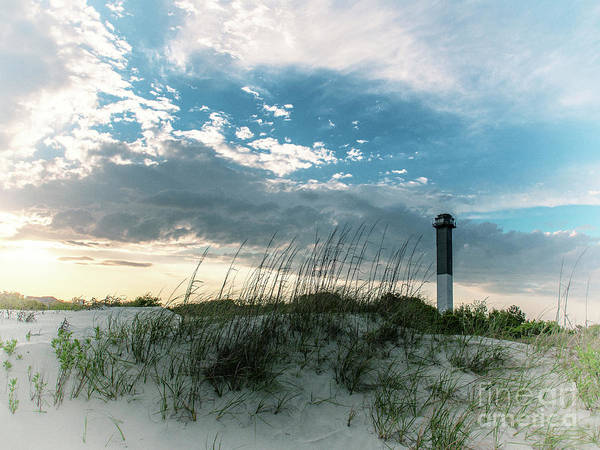 Photograph - Sullivan's Island Lighthouse Film Effect Vintage by Dale Powell