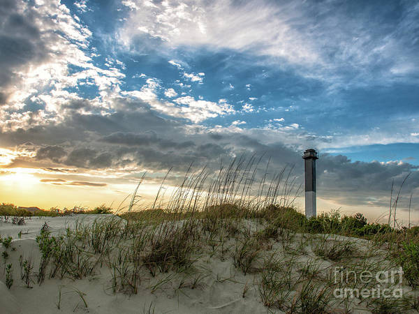 Photograph - Sullivan's Island Lighthouse Total Contrast by Dale Powell