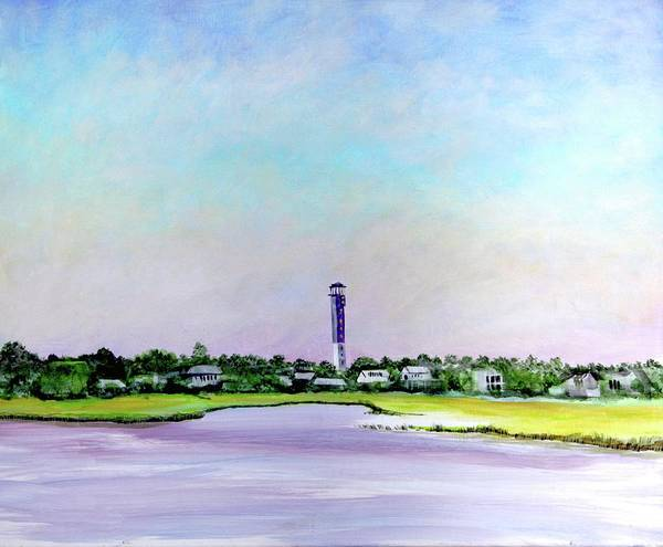 Painting - Sullivans Island Lighthouse by Virginia Bond